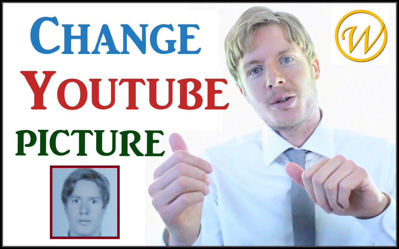 How to change your YouTube profile picture