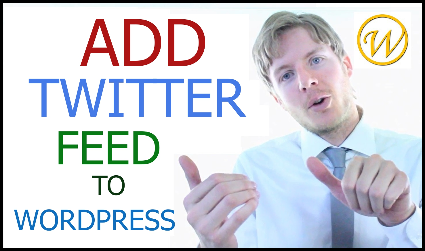 add twitter feed to wordpress