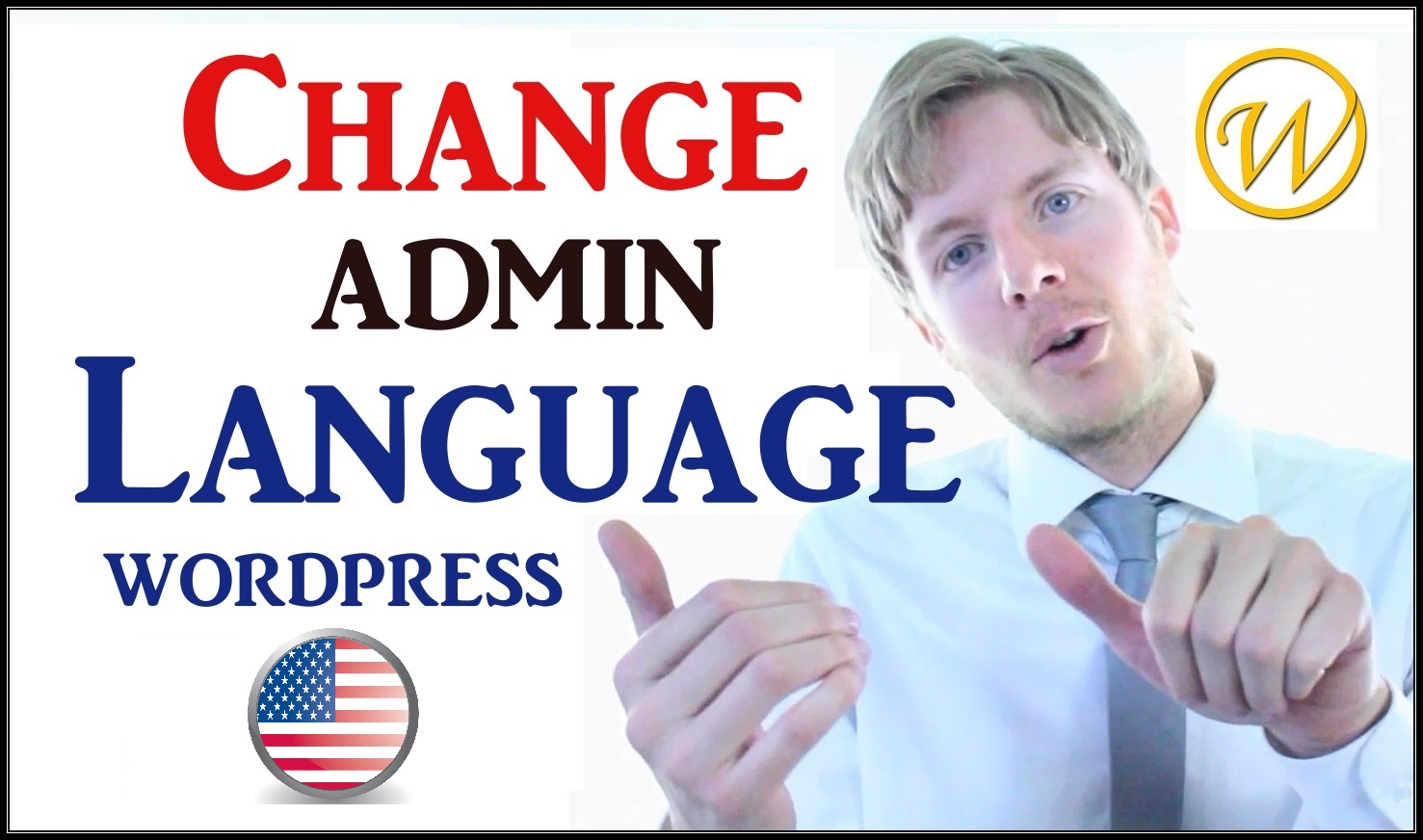 change wordpress admin dashboard language