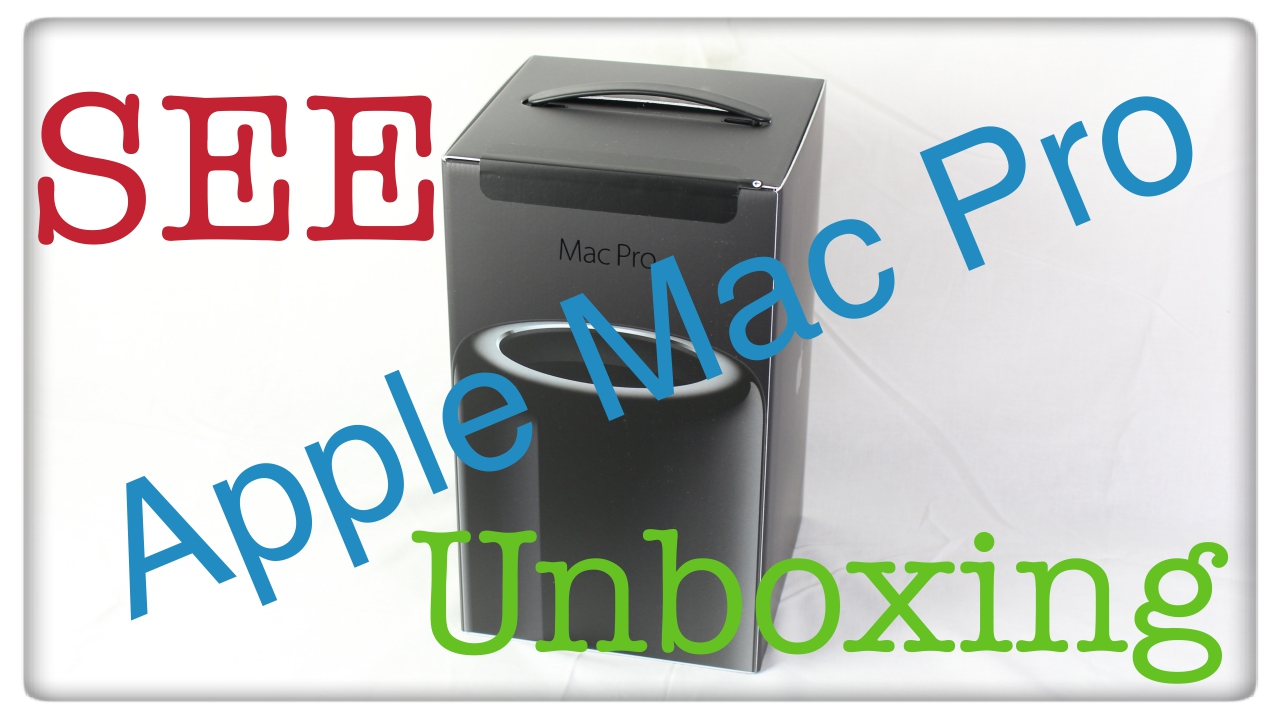 Apple Mac Pro 2013 unboxing computer desktop - Specs review