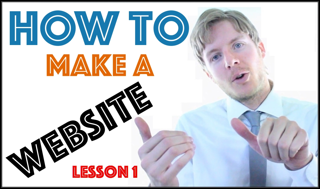 How to make a website Lesson 1