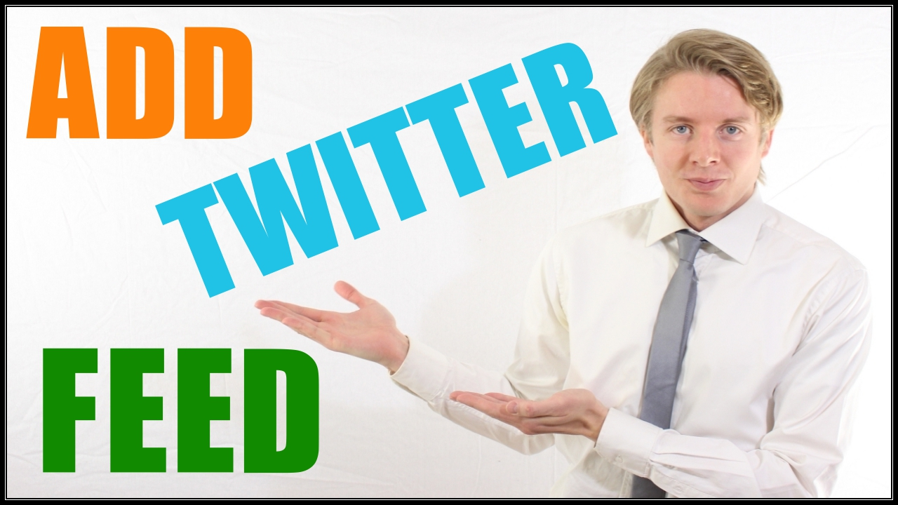 Add twitter feed widget in Wordpress