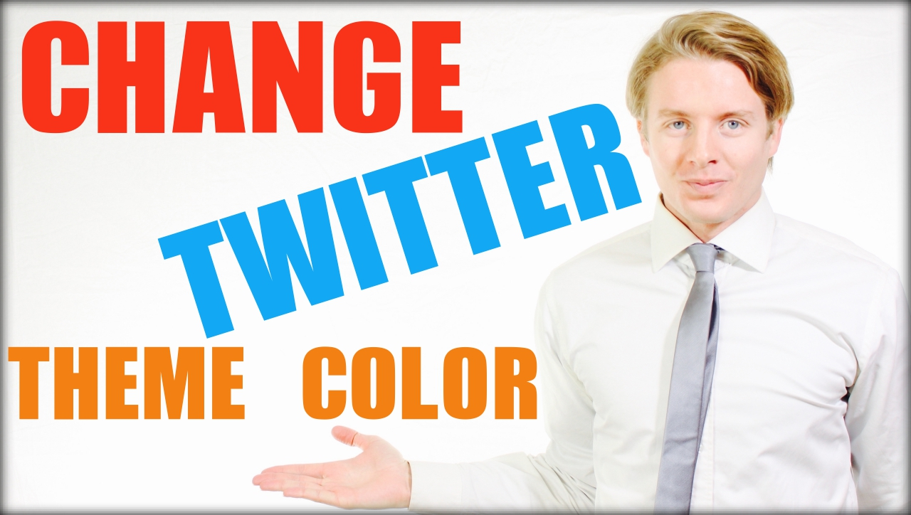 How to change Twitter theme color