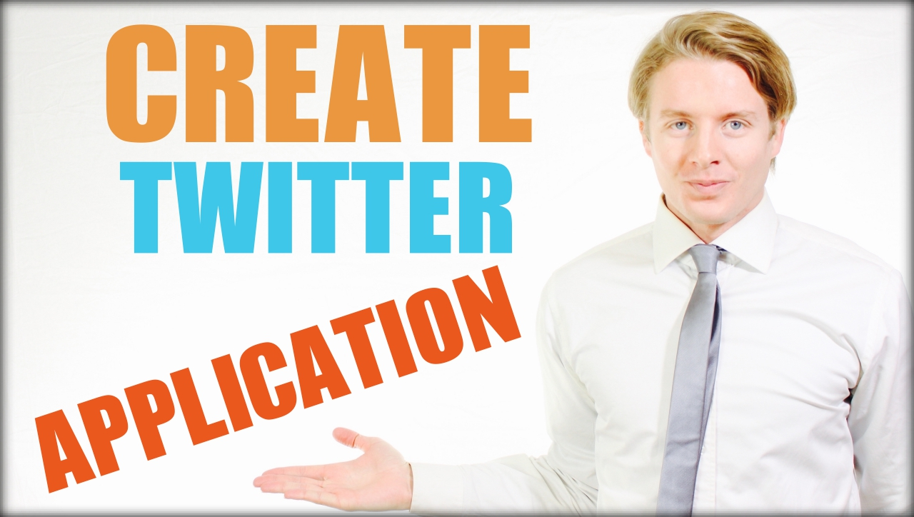 how to create twitter application 1