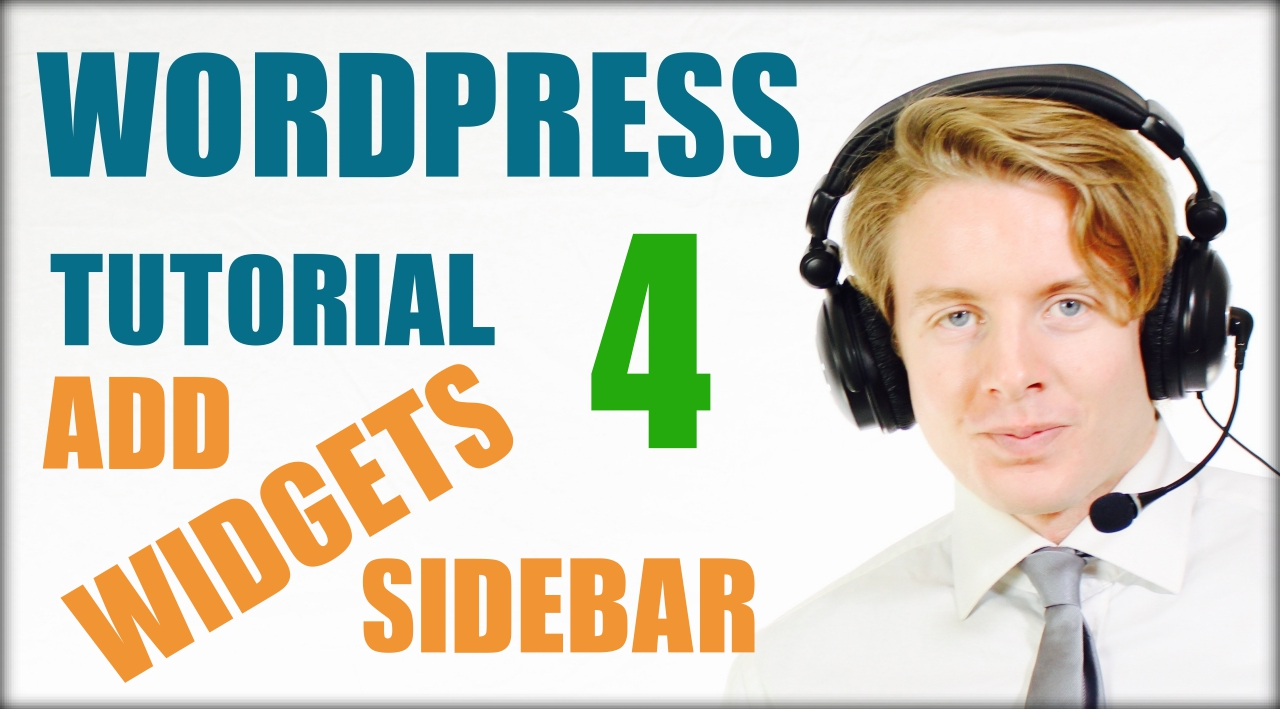 Wordpress tutorial step by step 2016 Add widgets sidebar