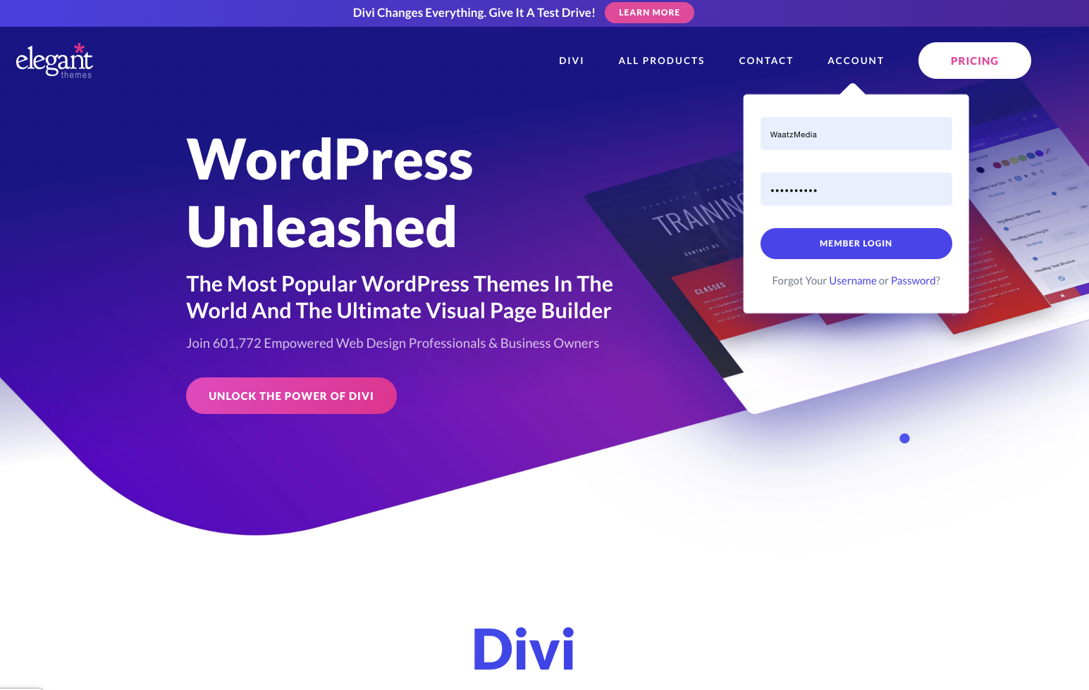 Install Divi Theme WordPress