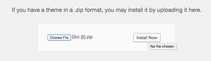 How to install Divi theme  zip.file on WordPress 2019